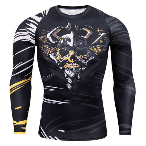 Men/'s Cool Dry Fit Athletic Compression Long Sleeve Baselayer Workout Gym Tee
