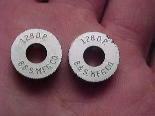 """Pr NOS B/&S 128 DP Knurling Knurler Lathe Tool Wheel 5//8/"""" X 1//4/"""" X 1//4/"""" Straight"""