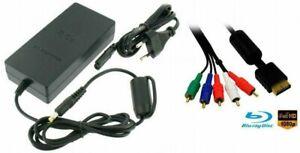 Playstation-2-YUV-Komponentenkabel-AC-Adaptor-8-5V-Netzteil-Trafo-fuer-PS2