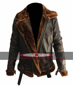 Men-039-s-Aviator-100-Real-Sheepskin-Leather-Bomber-Flying-Jacket