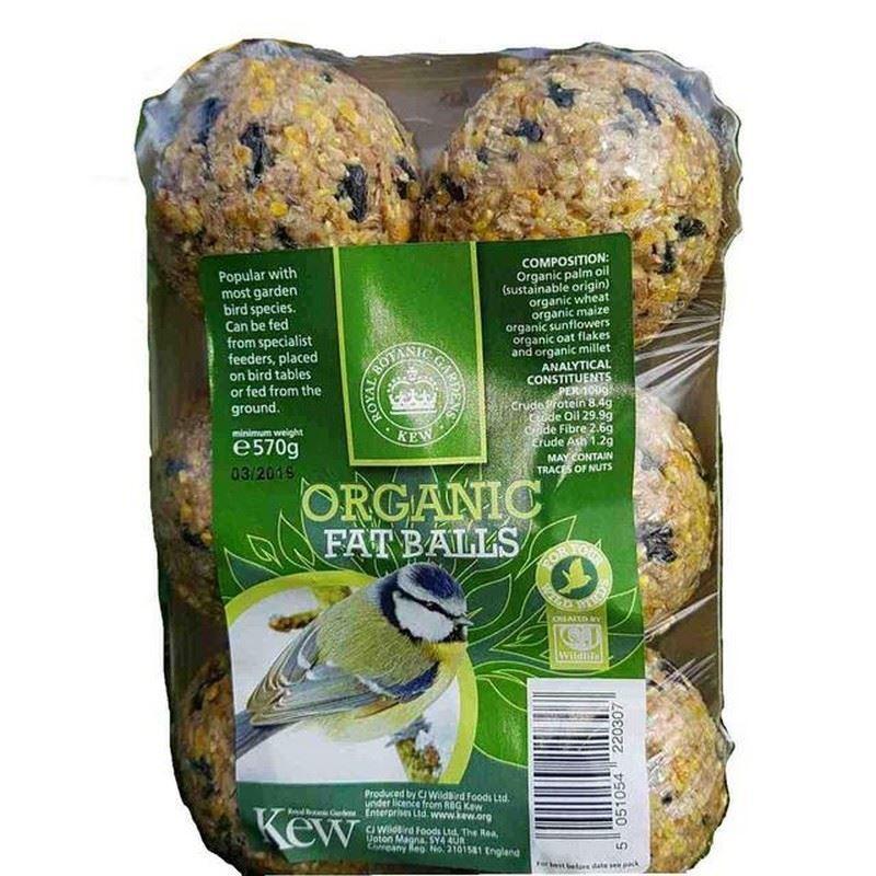 6x PALLINE DI GRASSO Kew Organico 6 per confezione