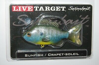 "Koppers LiveTarget 3 1//2/"" Sunfish Swimbait Series 1//2 Oz Bronze Bluegill New 4"