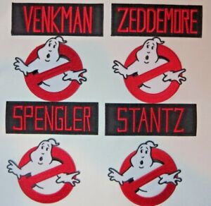 "GHOSTBUSTERS Names and 4"" Screen Accurate No Ghost Patch Set of (8) Eight"