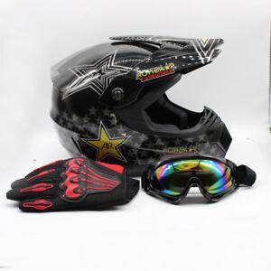 M Youth Racing Kids ATV Dirt Bike Protector Helmet+Goggle+<wbr/>Glove Set Motocross US