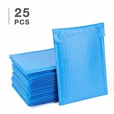 Fu Global 0 Poly Bubble Mailers 6x10 Inch Envelopes Blue Lined 25pcs Office
