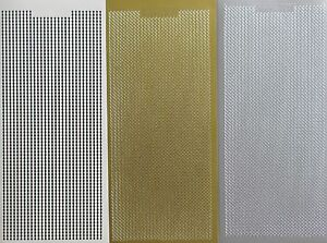 STRAIGHT LINES Peel Off Stickers Metallic Sparkle Thin Borders Card Making