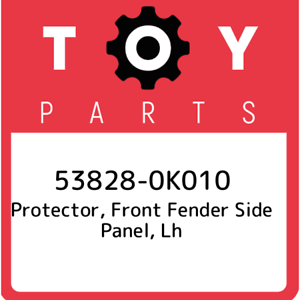 53828-0K010 Toyota Protector lh 538280K010 front fender side panel New Genuin