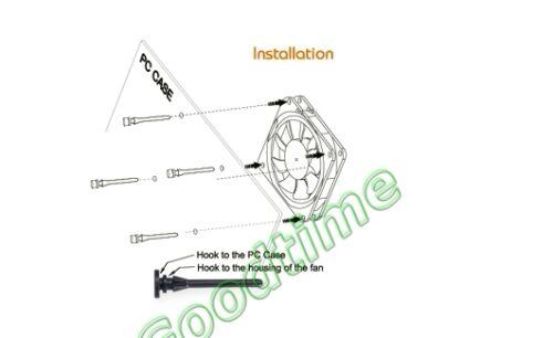 10 Pcs Anti Vibration Flexible Rubber Silicone Mount Screws for PC Case Fan