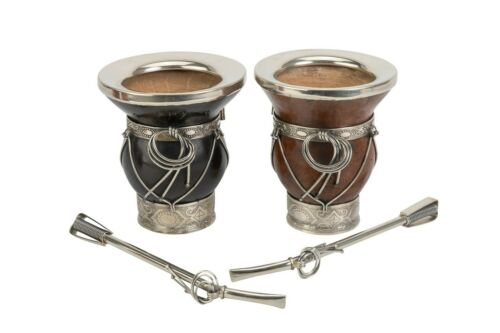 Details about  /Handmade set Mate of pumkin with base and nickel silver ferrule Include straw