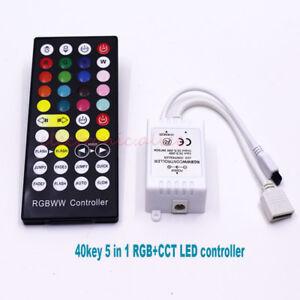 sports shoes dfd59 d6d85 Details about 1pcs 40Key IR DC12-24V RGB+CCT Remote Controller Dimmer For  5050 RGBW LED strip