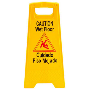 Caution Wet Floor Sign 24 Quot Tall Bright Yellow Easel Type