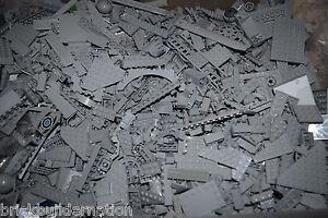 NEW-LEGO-100-LIGHT-GREY-MIX-OF-PARTS-PIECES-HUGE-BULK-LOT-RANDOM-LEGOS-LB-Gray