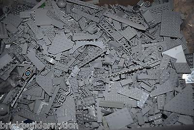 ☀️1//4 POUND DARK GREY LEGOS Mix  huge bulk lot lbs city Parts Pieces Bricks GRAY