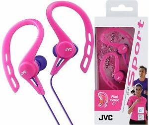 JVC-HA-ECX20-PINK-Sports-Splash-Proof-In-Ear-Ear-Clip-Headphones-Brand-New