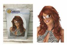 Adult Long Auburn 70s Farrah Fawcett Disco Rama Mama Costume Wig