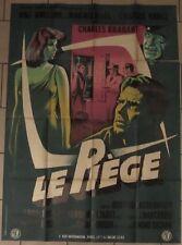 Le piège affiche originale film 120x160 cm (modèle B) GRINSSON 1958