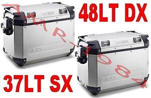 Image Is Loading Pair Suitcases Givi Trekker Outback 37 48 Aluminum