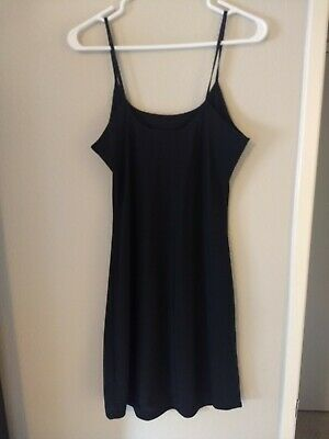 Style; In Anthropologie Women's Black Slip 6 Cami Silky Fashionable