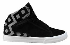 Supra Terry Kennedy TK Society Mid Top Black 3M Silver Shoes Sneakers 11.5 NIB