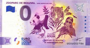 41 BEAUVAL Zooparc, 2021, Anniversaire, Billet Euro Souvenir