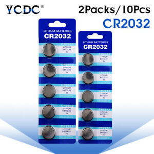10Pcs-3V-Button-Battery-Coin-Cell-Li-ion-5004LC-ECR2032-CR2032-DL2032-KCR2032-3
