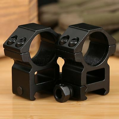"25.4mm 1"" High Profile Laser Scope Rings 21mm Weaver Picatinny Rail Mount 2PCS"