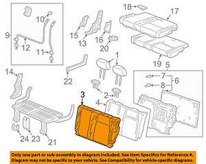 Rear Honda Genuine 82521-SZA-A01ZA Seat Back Trim Cover Left