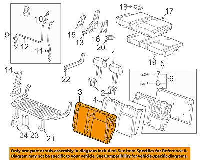 Rear Honda Genuine 82521-SZA-A42ZD Seat Back Trim Cover Left