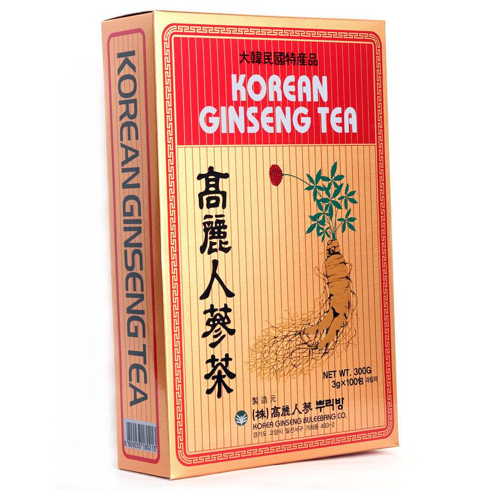 Anti Stress Tea Reduce High Blood Pressure Tea Korea Ginseng Tea Extract Ginseng Root Tea 3g x 100bags Healthy Tea