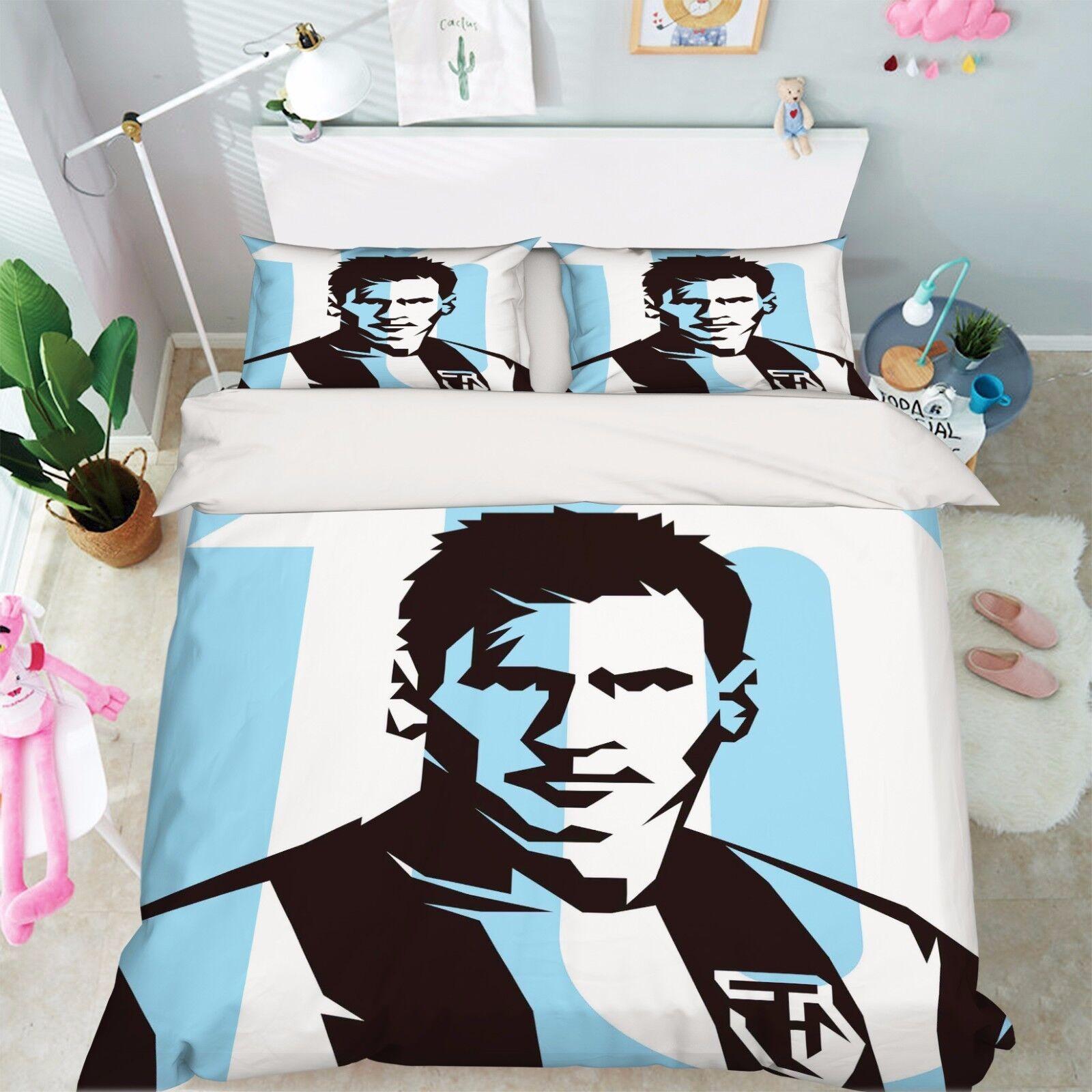 3D Handsome Man Bed Pillowcases Quilt Duvet Cover Set Single Queen King Größe AU
