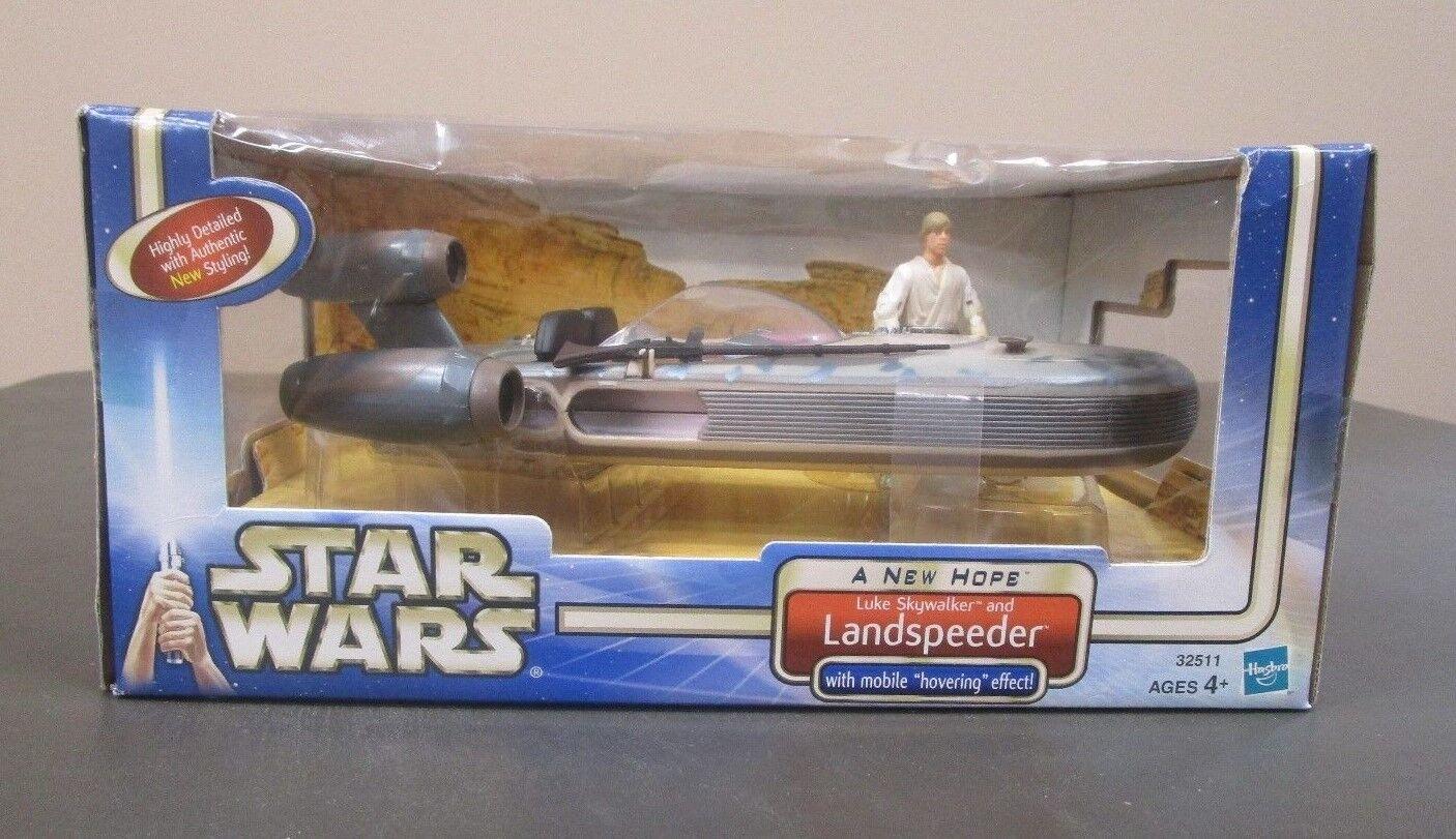 Luke Skywalker and Landspeeder 2002 STAR WARS A New Hope SAGA MIB