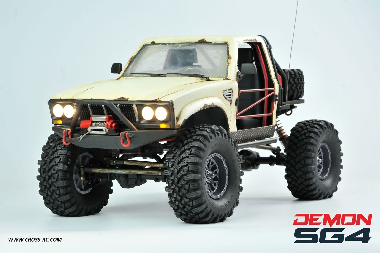 Cross RC - SG4C Demon 4x4 Crawler Kit, w/ Hard Body and CNC Gears, 1/10 Scale