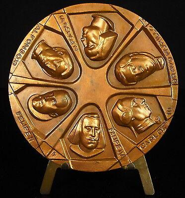 Doelstelling Médaille Madrid Bravo Murillo Alfonso Vi Felipe Ii Carlos Iii Spain King Medal