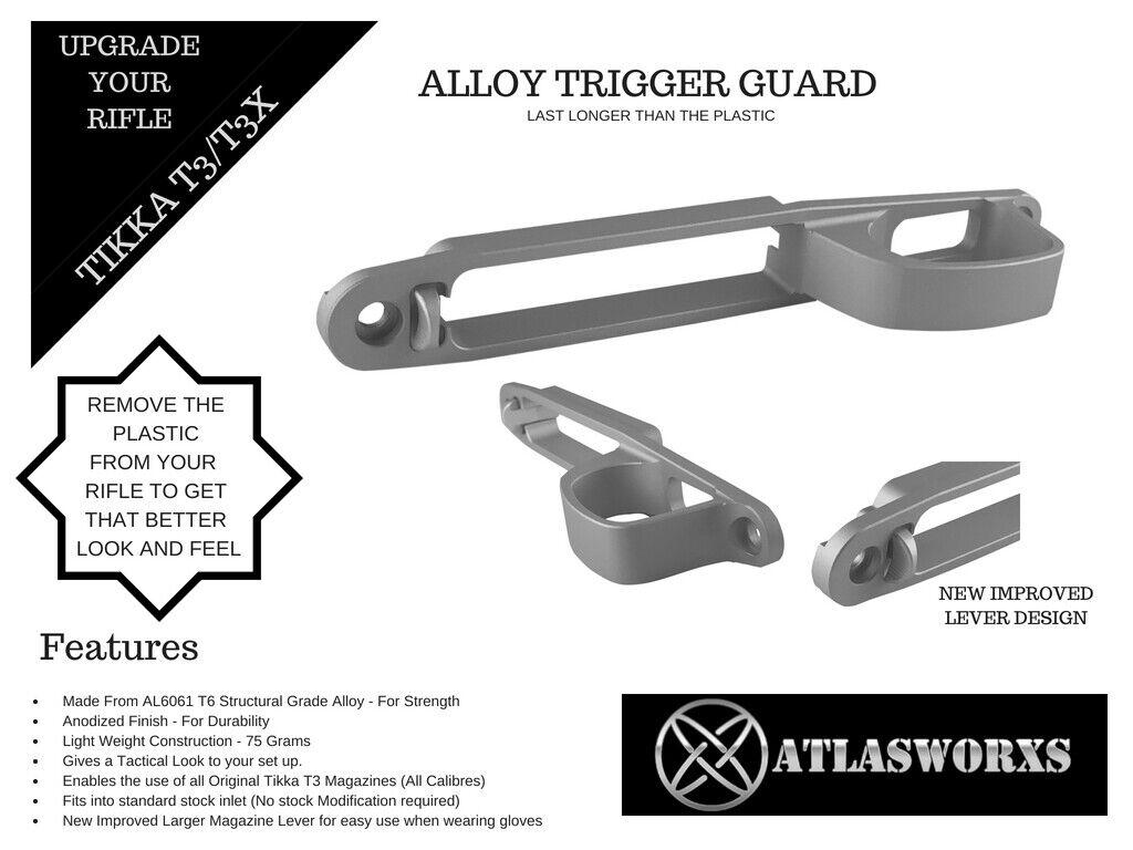 Atlasworxs  Tikka T3   T3X Alloy Guard (Replaces Plastic Guard)