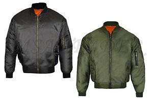 New-MA1-Mens-Army-Pilot-Biker-Bomber-Military-Security-Doorman-Harrington-Jacket