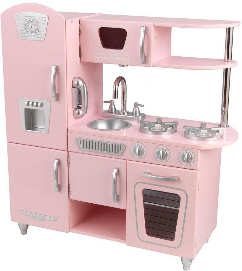 KidKraft Vintage Kitchen Playset Sleek Kids Fun Pretend-Play Easy-Clean Pink Pink Pink 0c268e