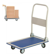 Kariyer 330 Lbs Folding Hand Push Cart Portable Platform Truck Moving Warehouse