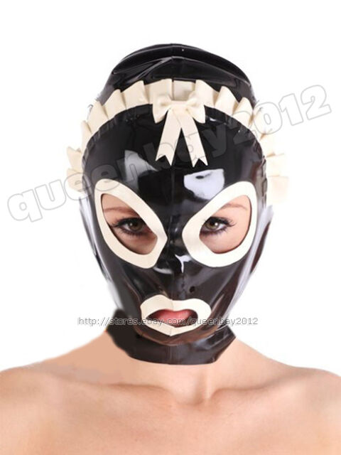New100/% Latex Rubber Gummi 0.45mm Mask Hood Party Costume Suit Halloween Costume