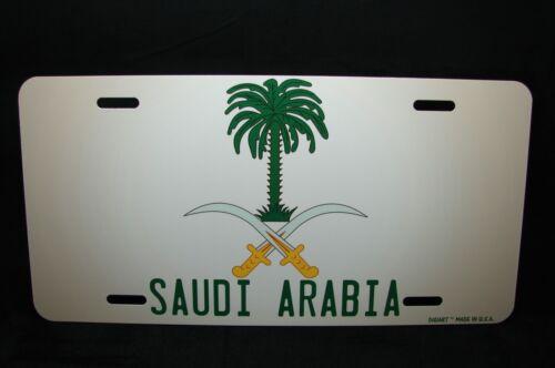 Saudi Arabien Wappen Flagge Metal Neuheit Kennzeichen für Autos شعار السعودي