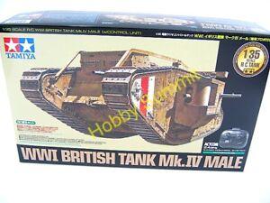 Tamiya-1-35-R-C-British-Mk-IV-MALE-WWI-Tank-Full-Set-2-4GHz-Kit-48214