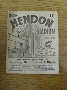 13-10-1951-Greyhound-Racing-Hendon-Stadium-Official-Programme-rusty-staples