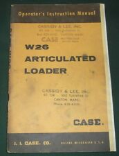 Case W26 Articulated Loader Operator Operation Amp Maintenance Manual