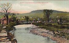 1909 Sunset on the Willowemoc Livingston Manor NY Vintage POSTCARD creek