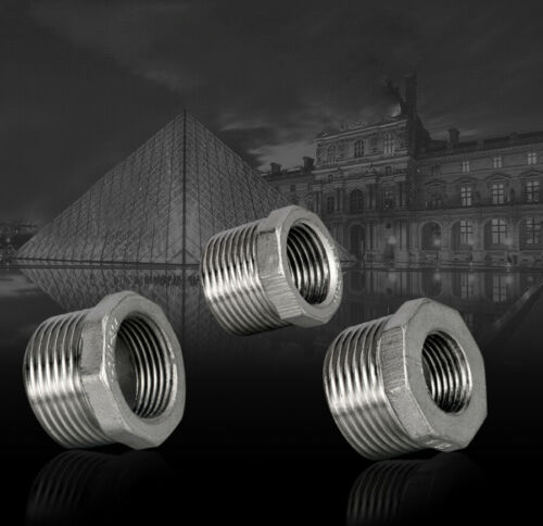 """1//4/""""~1/"""" BSP Male × Female 304 Stainless Steel Thread Hex Bushing Pipe Fittings"""