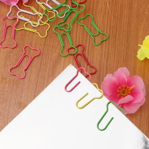 50 pcs Knochen Form Deko Büroklammern Motiv Heftklammern Blumen
