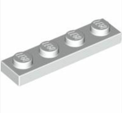 371001/_LEGO Plate 1x4 Lot of 25 3710 /_White