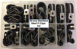 P Clip Kit En Acier Inoxydable 60 Pièces ** Petit Prix ** 10 Tailles-afficher Le Titre D'origine