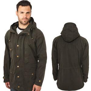 Urban-Classics-Light-algodon-Parka-chaqueta-de-invierno-abrigo-NUEVO
