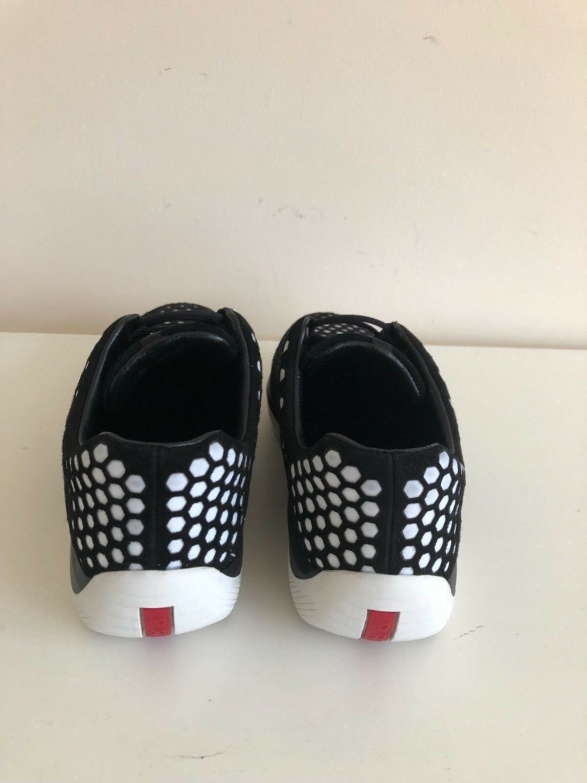 Prada Sport - Womens Sneakers Size 39 8.5    Black and White (Retail  595) bf03a0