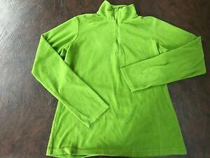 Women-039-s-Size-S-COLUMBIA-Fleece-Shirt-Top-Long-Sleeve-Green-1-4-Zip